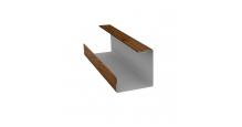 Доборные элементы (Блок-хаус/ЭкоБрус) Grand Line в Ярославле Планка угла внутреннего составная нижняя